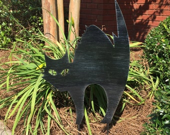 1 Halloween Black Cat Yard Art Stake 6 Designs to Choose