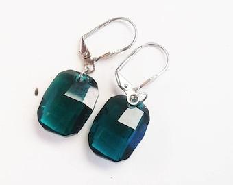 Swavorski Crystal Emerald Drop Earring