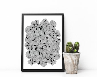 Abstract Printable Art Prints, Instant Download Art, Black and white art