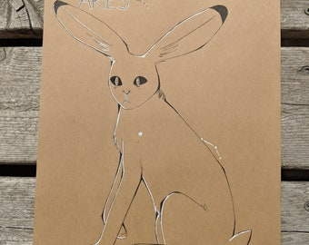 Aries Jack Rabbit Constellation Original