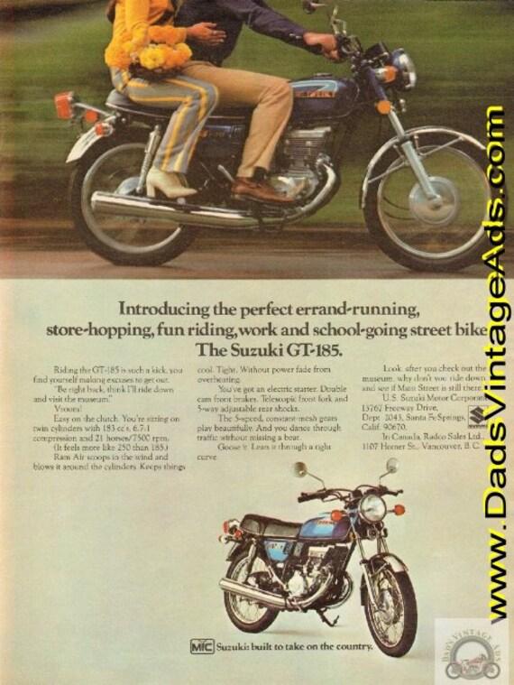1973 Suzuki GT-185 Vintage Motorcycle Ad #d73da17