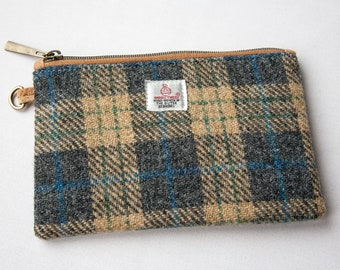 Harris Tweed Purse, Tweed Clutch, Tweed Accessories Case