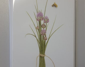Chives greetings cards x 6