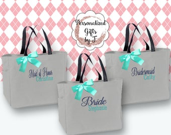 Maid of Honor Gift, Personalized Bridesmaid Gift Tote Bags Monogrammed Tote, Bridesmaids Totes, Personalized Tote, Wedding Tote Bag