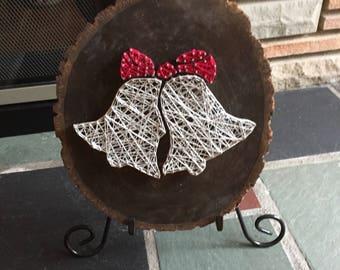 Custom Made to Order Silver Bells String Art