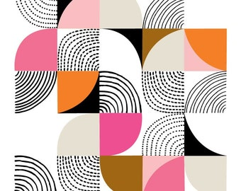 Curves Pink, giclee print