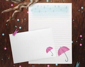Rainy Day Letter Writing Set