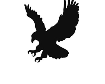 Pack of 3 Eagle Style 2 Stencils Made from 4 Ply Mat Board, 11x14, 8x10 and 5x7 -Package includes One of Each Size