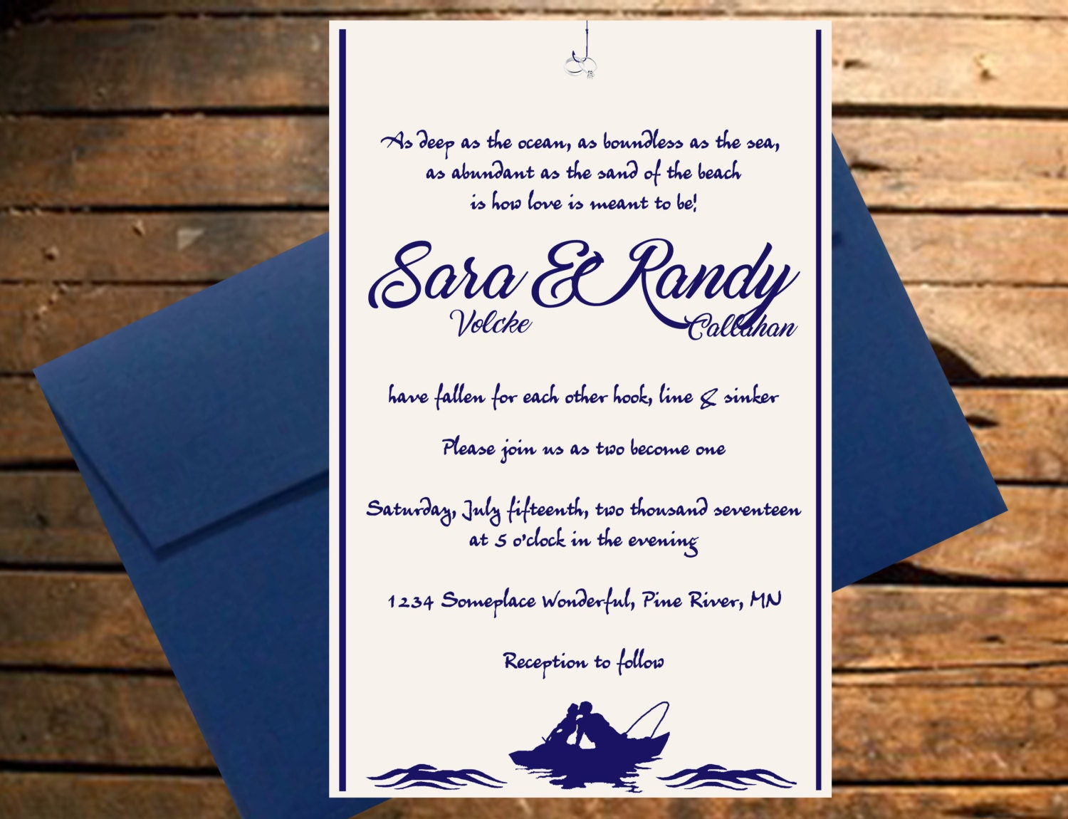 Outstanding River Themed Wedding Invitations Pictures - The Wedding ...