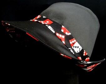 CASANOVA High Crown Reversible Gangster Fabric Hat