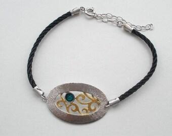 B 404sm  Handmade sterling silver bracelet