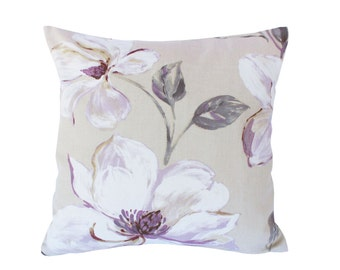 Flowers print pillow, Decorative Throw Pillow Covers, Floral pillow, Couch Pillow, Cushion cover, Accent pillow, Decorative cushion