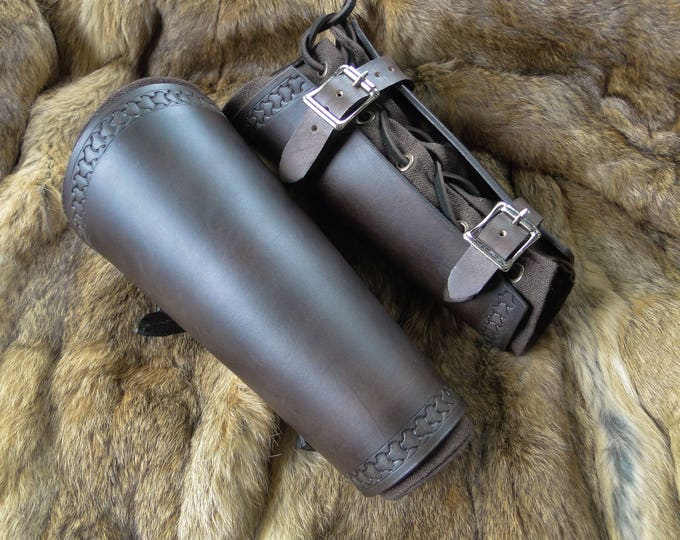 Renaissance Leather Bracers - Viking Arm Guards, Medieval Armor Set Mens