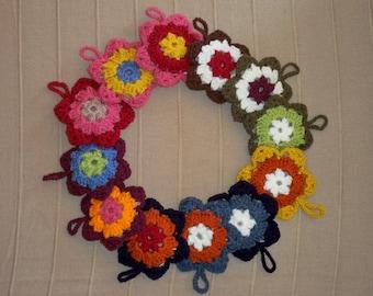 Set of 4 star /sachets Lavender crocheted, multicolored.