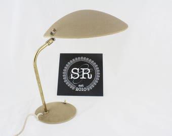Vintage Shrink Paint table lamp, mid-century desk lamp, 1950s