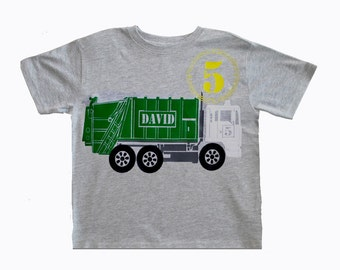 Garbage Truck Birthday  T-Shirt
