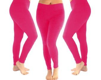 Dark pink leggings, pink leggings, hot pink leggings, yoga leggings, women's leggings, leggings, cotton leggings, fall leggings, fall outfit