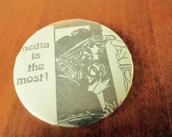 Media is the Most Vintage Pin