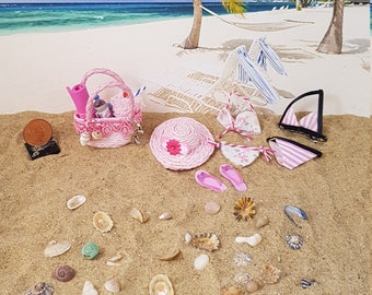 South Beach Miniature Beach Set