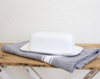 Ironstone Butter Dish - White Ironstone Butter Dish - Ironstone Dish - Royal M ironstone - Vintage Butter Dish - Ironstone Dish Decor