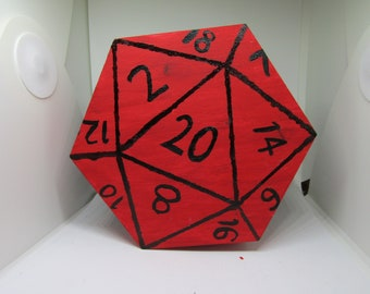 Large D20 Dice Box  || Tabletop Gaming RPG Wooden Dice Chest || Dungeons & Dragons DND || Pathfinder || Geek Gift ||
