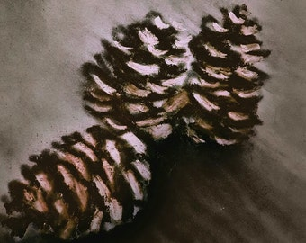 Holiday Card Pinecones