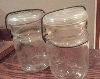 Vintage glass jars canning jars ball ideal
