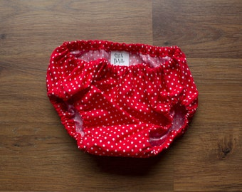 Red Polka Dot Diaper Cover