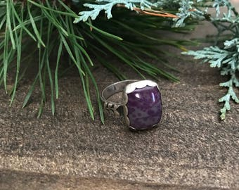 Charoite Sterling Silver Size 9 Ring
