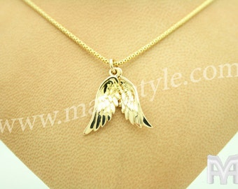 Yellow Gold Angel Wings Pendant