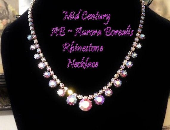 Aurora Borealis Rhinestone Necklace