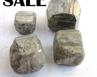 Iron Pyrite Cubes - no hole (4X) (NS560) SALE - 33% off