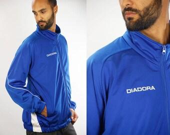 DIADORA Track Jacket / Windbreaker Diadora / 90s Windbreaker / Tracksuit Jacket Diadora / 90s Windbreaker / Wind Breaker Diadora / 90s Sport