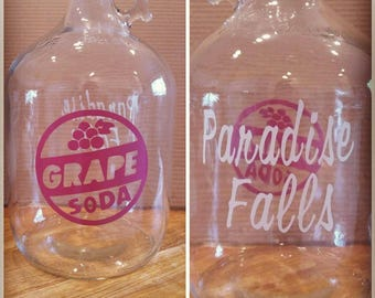 Carl and Ellie Paradise Falls 1gallon glass jar jug