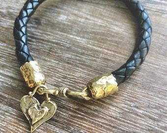 Black Hearts Bracelet