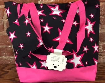 Beach Bag-Star Tote: color Pink