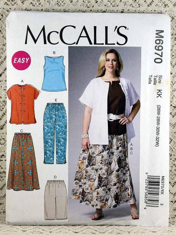 McCall\'s 6970, Women\'s Shirt, Top, Skirt and Pants Sewing Pattern ...