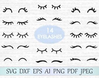 Eyelashes SVG file, Eyelash svg, Eyelash vector, Eyelash cut file, Lashes svg file, Eyelashes clip art, Eyelashes cricut, Eyelashes clipart