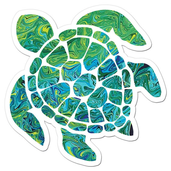 Hawaiian Sea Turtle Clip Art The Sea Turtle Art Sti...