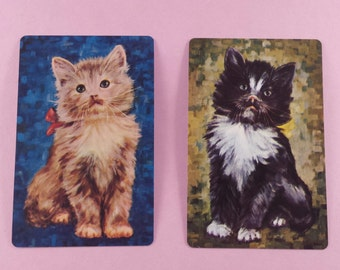 4 vintage playing cards cats (E-253)