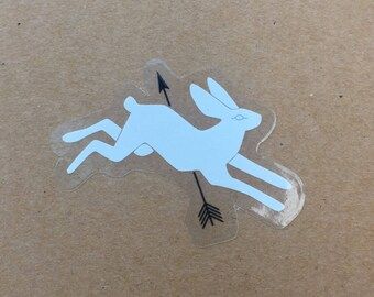 Lucky Rabbit Vinyl Sticker