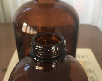 Amber Apothecary Bottles