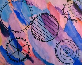 Watercolor Mandelas