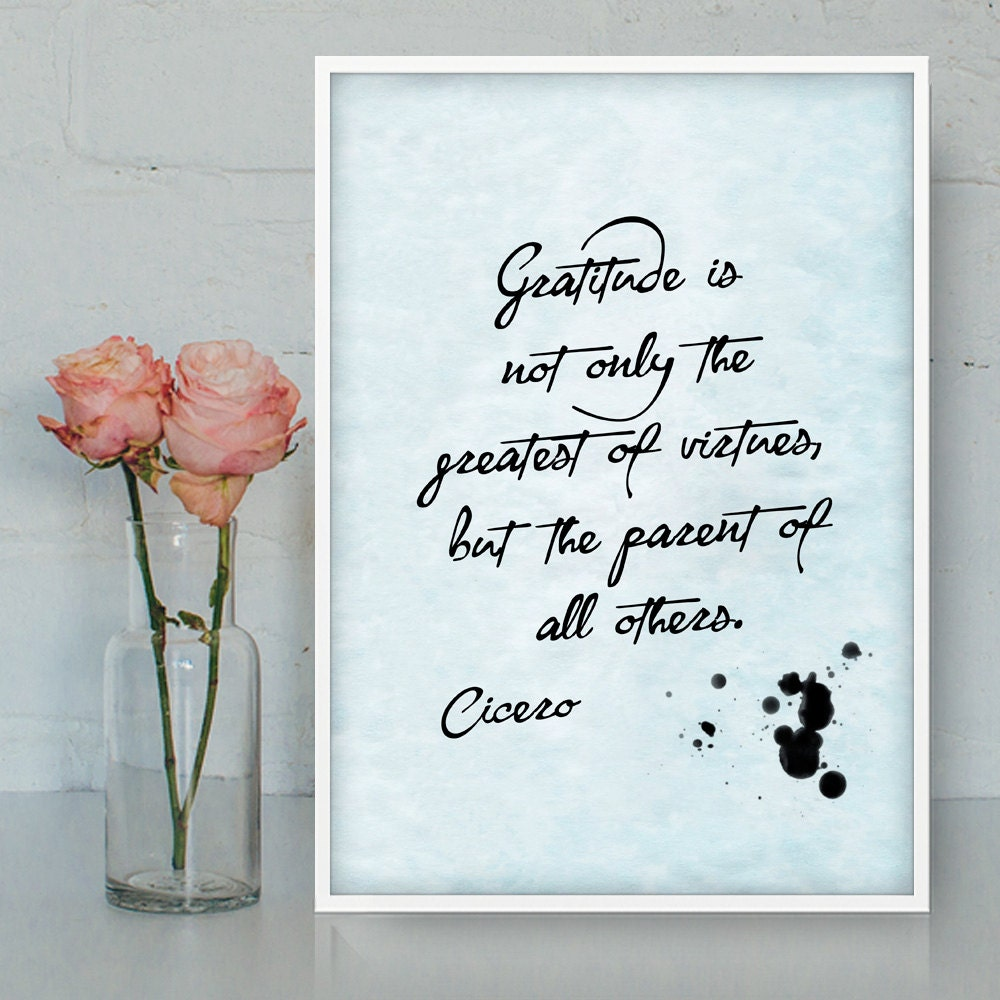 Quotes In Latin Cicero Quotes Printable Wall Art Gratitude Latin Quotes