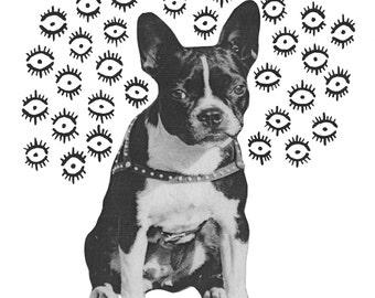 "Fine Art Print: ""Doggo"" 8x10 Matted to 11x14"