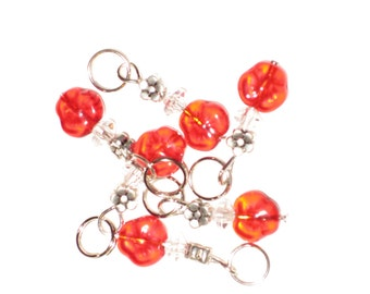 Knitting Stitch Markers - Crystals and beads
