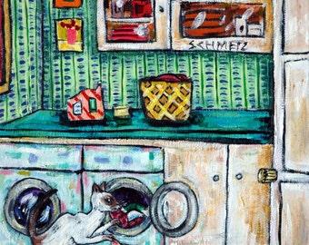 cat art - siamese cat art, PRINT,laundry room art, cat print,modern cat print, folk art,  print, cat gifts, gift