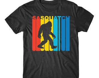 Retro 1970's Style Sasquatch Silhouette Bigfoot T-Shirt
