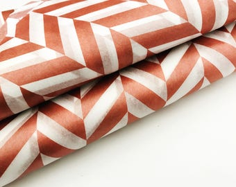 Metallic Rose Gold Herringbone Tissue Paper Sheet- Gift Wrapping/Bulk Tissue Paper/Tissue Paper Tassel/Tissue Paper/Wrapping/Easter Paper