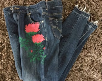Painted Rose Jeans!